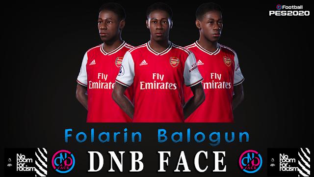 PES 2020 Folarin Balogun Face by DNB