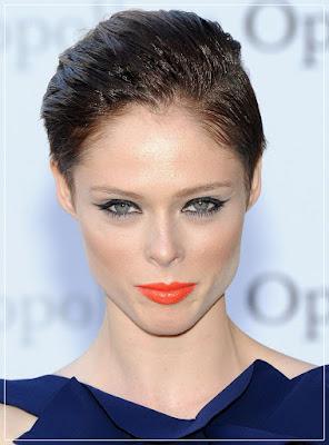 Coco Rocha/ orange lipcolor/ orange lipstick