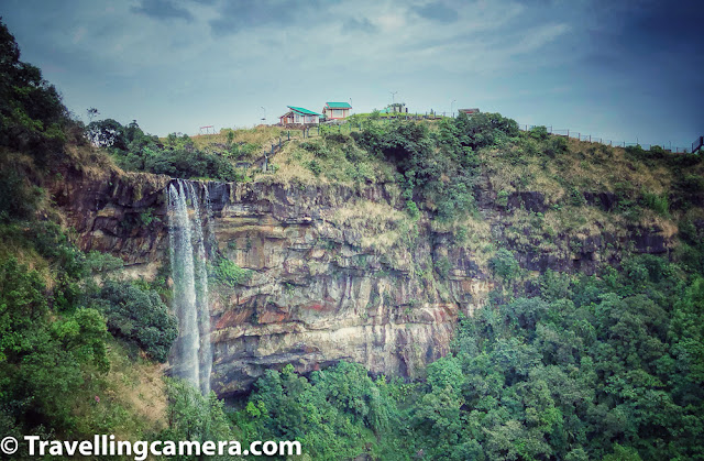 Above photograph shows one of the waterfalls inside Eco Park of Cherrapunji. The awesome part which I loved is that view-points are created a very good place which offer great views of the waterfalls originating from Eco Park of Cherrapunji.