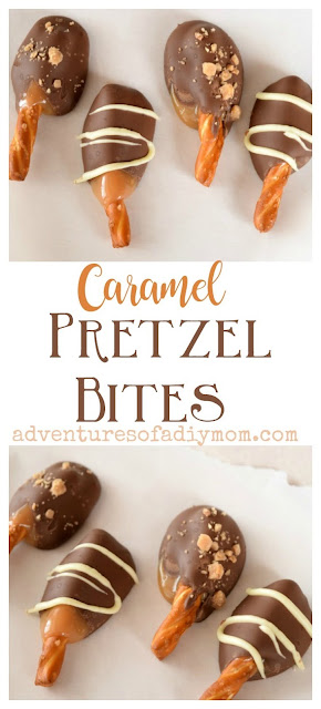 Caramel Chocolate Pretzel Bites