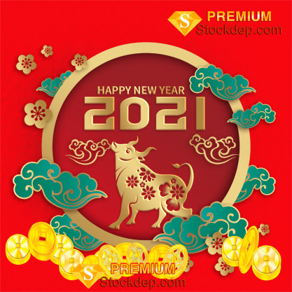 2021 Chinese New Year Wealth Wealth Ingot Gold Traditional Gold