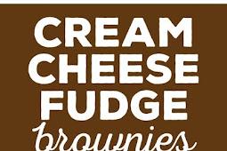 CREAM CHEESE FUDGE BROWNIES