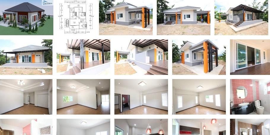 Sencillo y hermoso plano de casa para una área de lote de 143 metros cuadrados