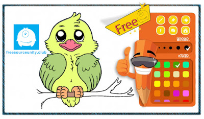 Birds Coloring complete game Birds%2BColoring