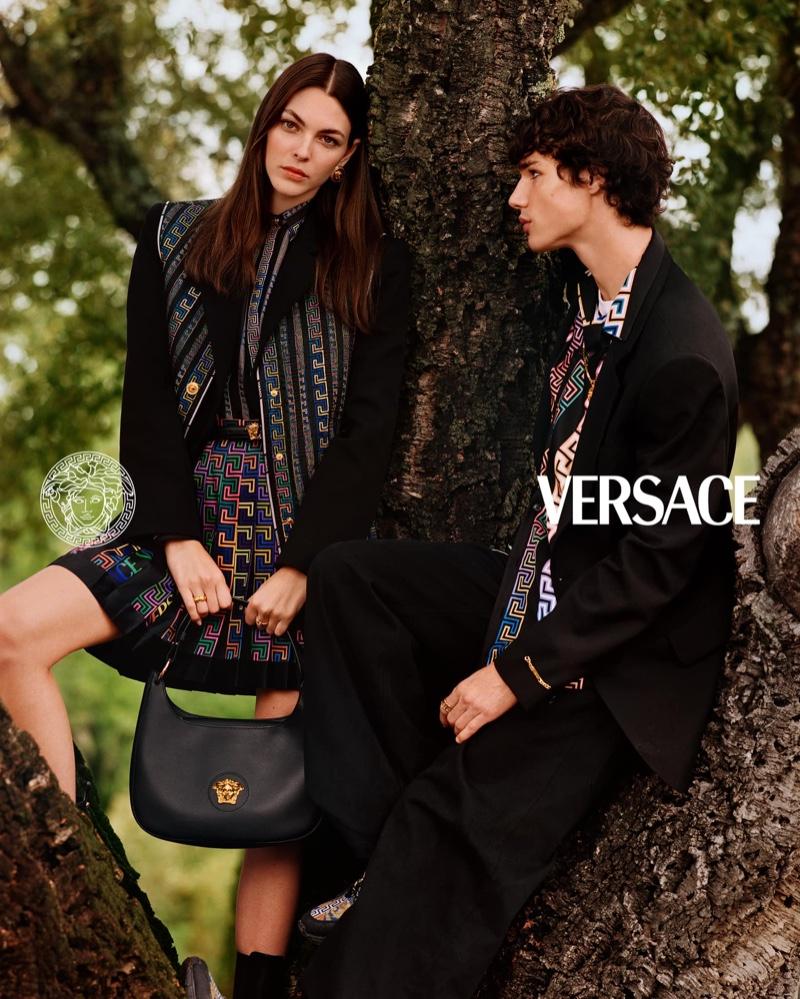 Vittoria Ceretti stars in Versace pre-fall 2021 campaign.
