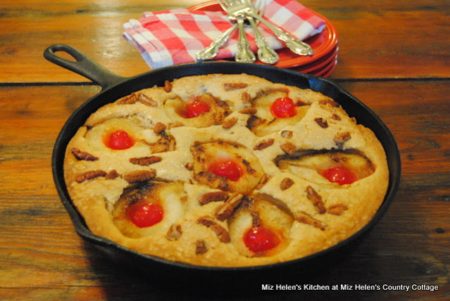 Pear-Pecan Skillet Cake at Miz Helen's Country Cottage