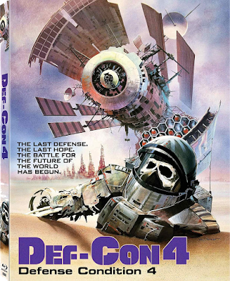 Cover art for Scorpion Releasing's new Blu-ray of DEF-CON 4!