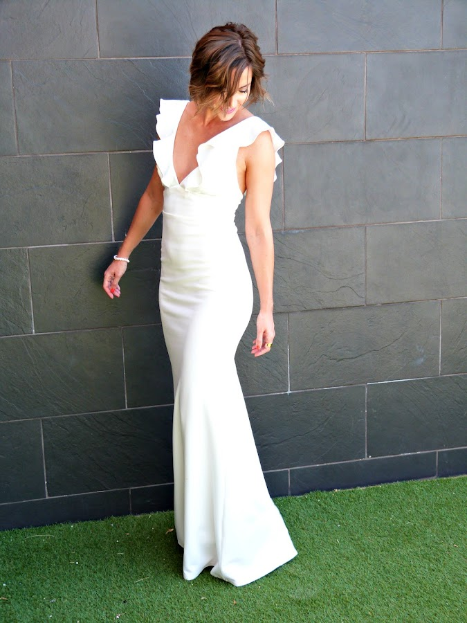 Fitness And Chicness-Top Queens Bridal White Maxidress-6