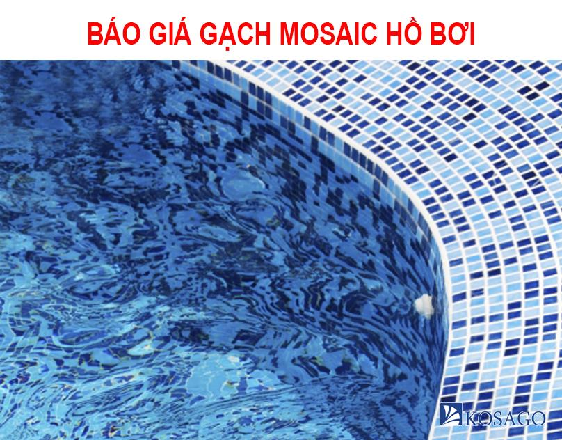 Báo giá gạch mosaic hồ bơi mới nhất - Kosago