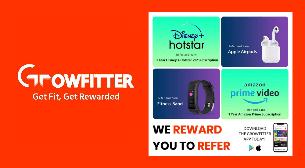 Growfitter Loot Free Rewards for Fitness  Activites