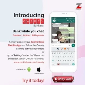 Zenith Qwerty whatsapp banking