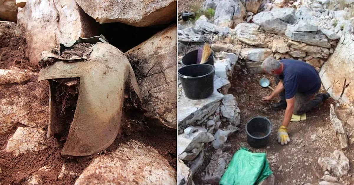 Tomb Of Ancient Greek Warrior Along With Ancient Bronze Helmet Is Discovered In Croatia By Archaeologists