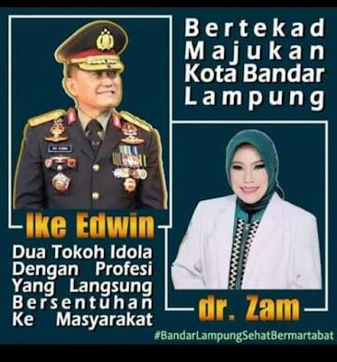 Pasangan Dang Ike (Jendral) dan Kanjeng Zam (Dokter Spesialis Saraf) terus menjadi sorotan masyarakat Bandar Lampung.  Mereka berjiwa sosial, adil dan peduli sesama.