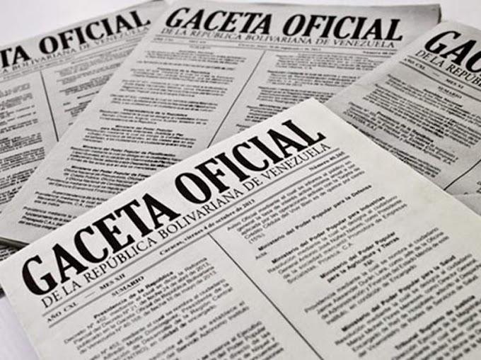 Gaceta Oficial Extraordinaria N° 6.523 Decreto N°4.171