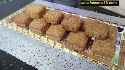 حلويات ام وليد | متقبة او مبسس الطابع معسل و مرمل ذوق روعة