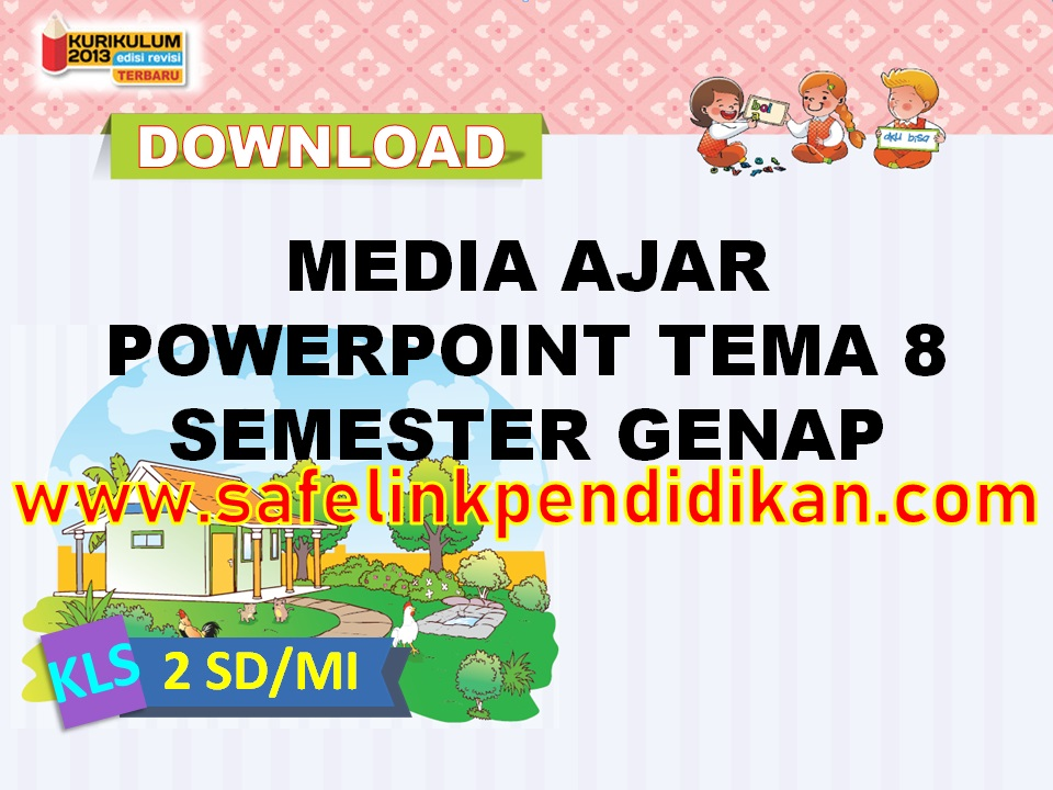 Media Ajar Powerpoint Tema 8 kelas 2 sd/mi