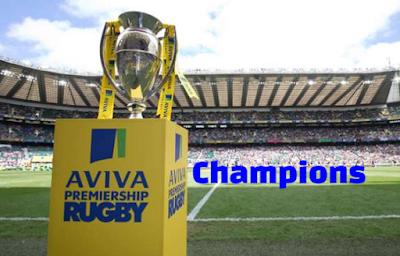 Aviva Premiership Rugby Winners-Champions, history,  List.