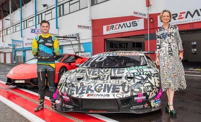 Belgian Esteban Muth from Brussels will drive a Lamborghini Huracan GT3 designed by Princess Delphine in the race