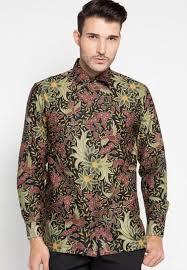 Desain kemeja batik pria lengan panjang eksklusif