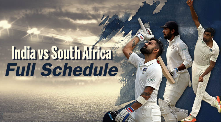 India tour of South Africa 2018: Full schedule