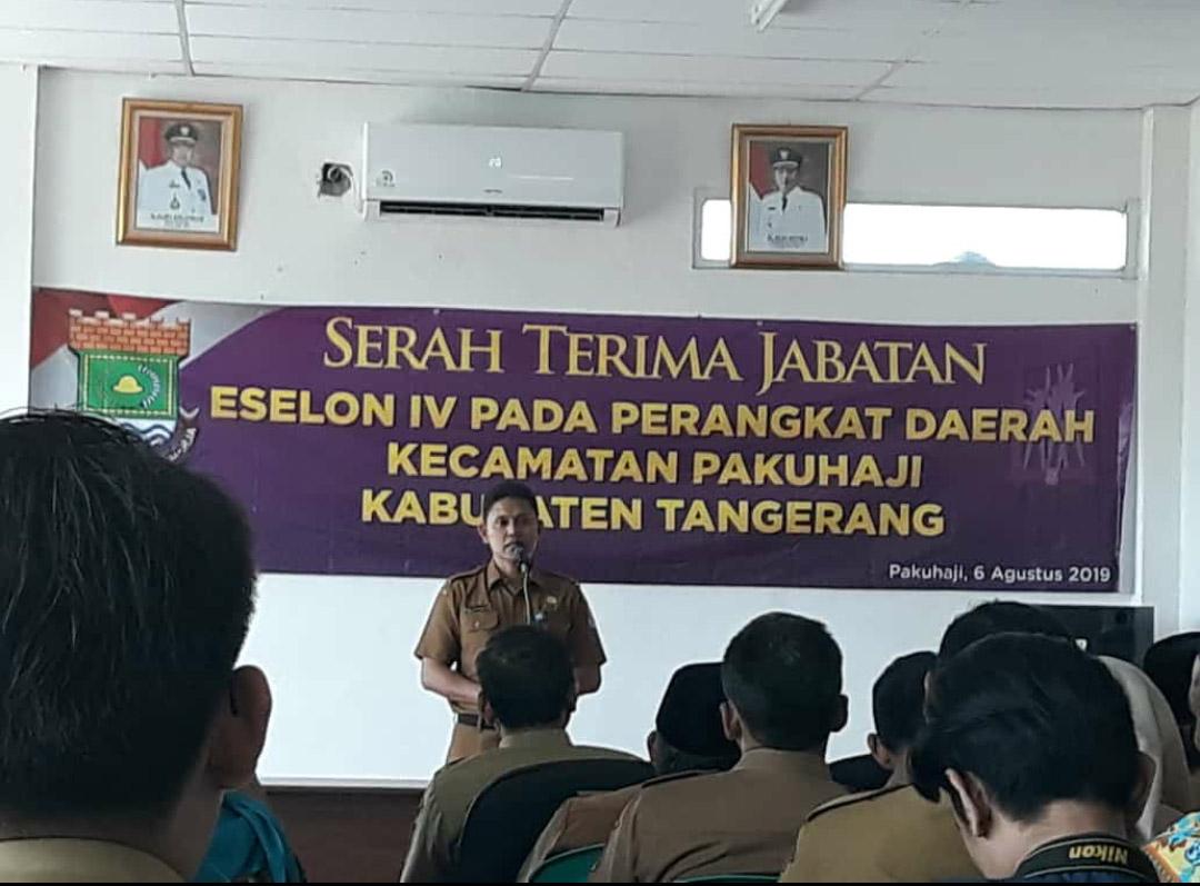 Inilah Sembilan Pejabat Eselon IV Pada Sertijab Kecamatan Pakuhaji