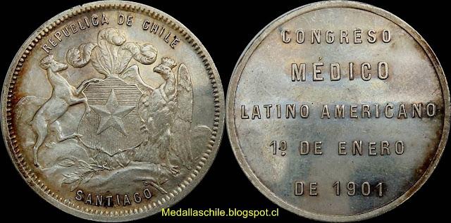 Medalla Congreso Medico Latinoamericano 1901