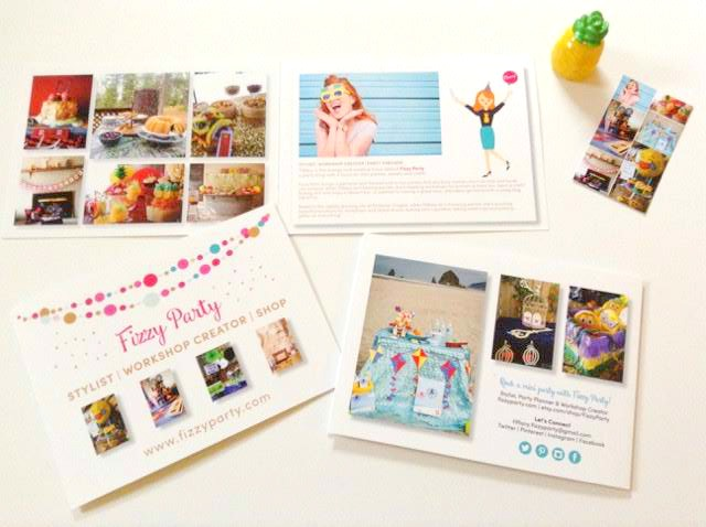 Fizzy Party business cards