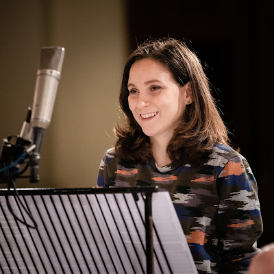 Chiara Skerath recording with Ian Page and the Mozartists earlier this year
