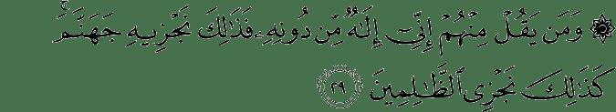 Surat Al Anbiya Ayat 29