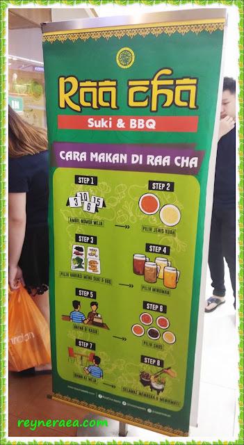 raa cha menu cara makan
