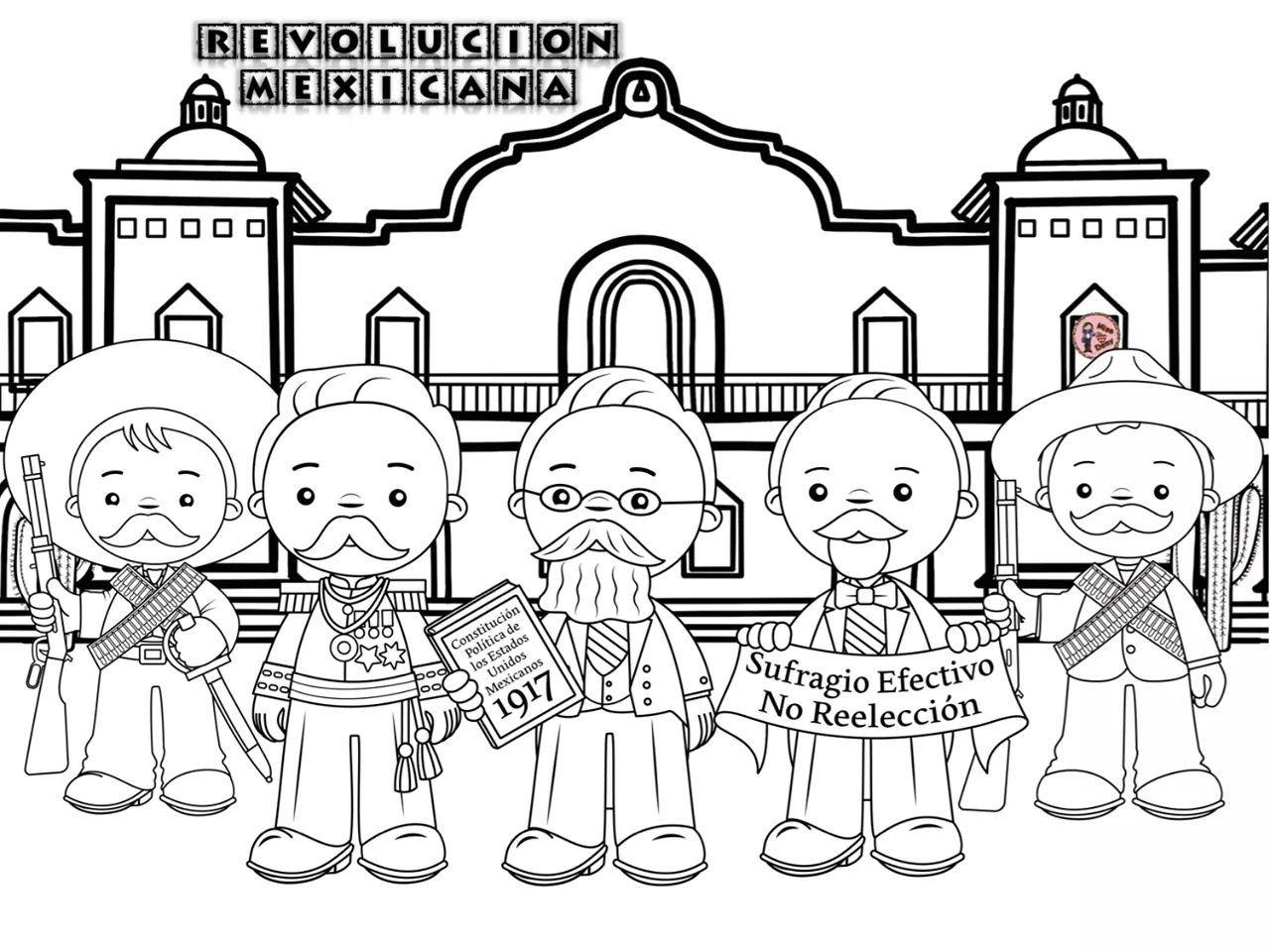 Colorear Personajes De La Revolución Mexicana