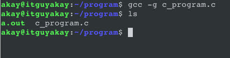 option flags in gcc commands