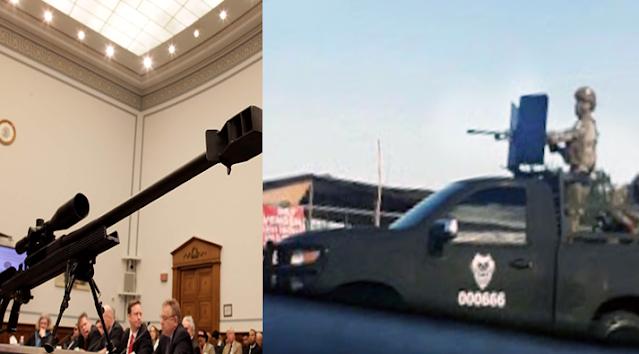 """VIDEO.- Con una calibre. 50 por fuera en la Camioneta y por dentro de demonio, Zetas de Las Tropas del Infierno del CD"""" disfrutan exhibiéndose armadas y empecháramos como si no hubiera Militares"""