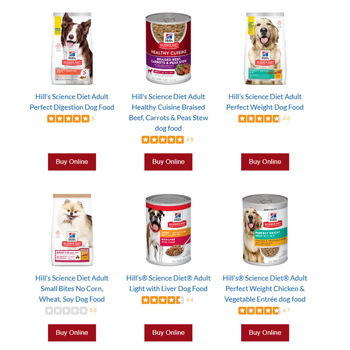 science diet canned dog food