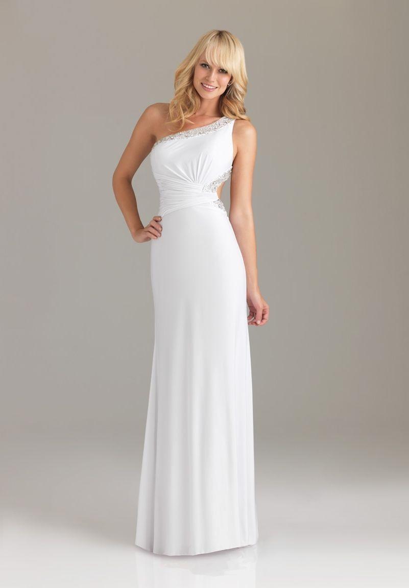 WhiteAzalea Sheath Dresses: Elastic Imitation Silk One ...