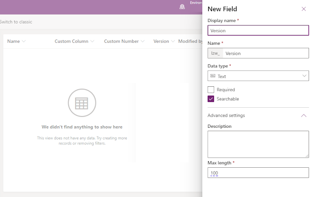 New Field for Document