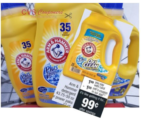 CVS Deal on Arm & Hammer Power Paks $0.99 84-810