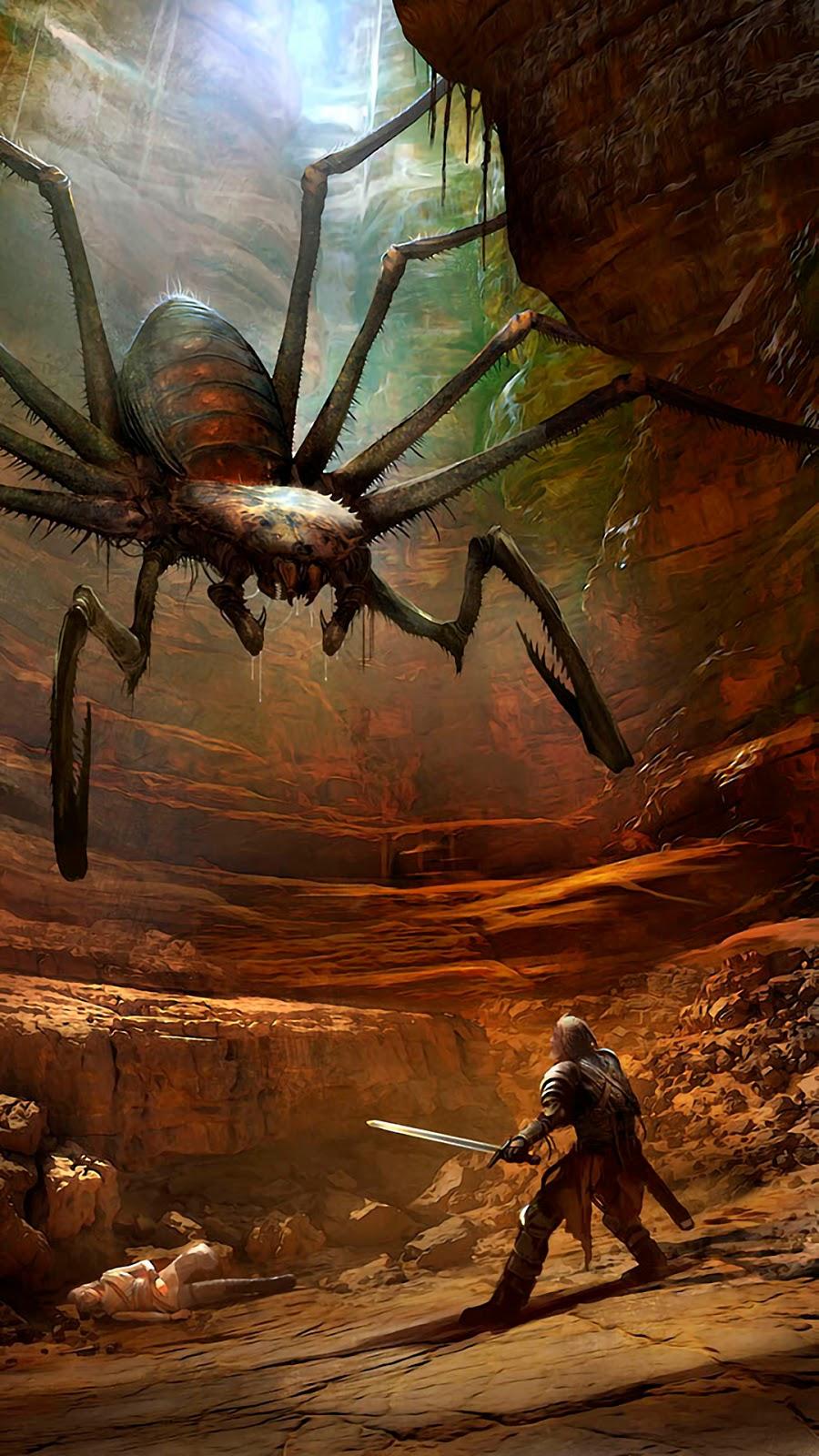 The Witcher Kikimora Spider Wallpaper