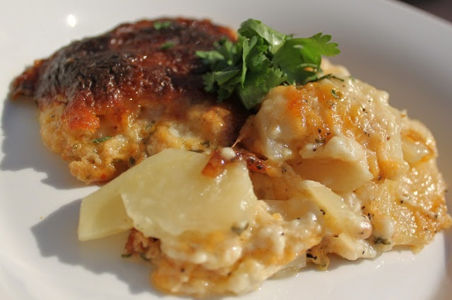 guinness cheddar bacon scalloped potatoes