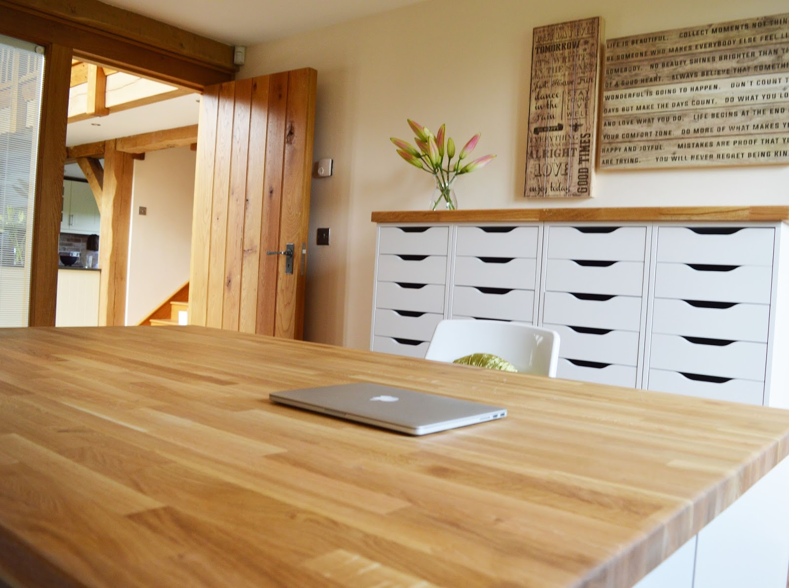 All White Units Are From IKEA U0027Alex Rangeu0027 / Bespoke Wooden Work Surfaces