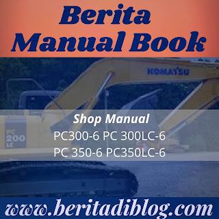 Shop manual komatsu PC300-6