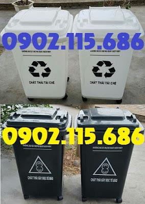 Thùng rác nhựa 60l, thùng rác nhựa 60 lít, thùng rác 60l nắp đạp chân, thùng rác 60l nắp bập bênh, thùng rác 60l có bánh xe, 2