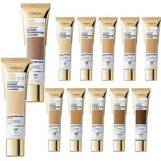 FREE L'Oreal Age Perfect Radiant Serum Foundation Sample