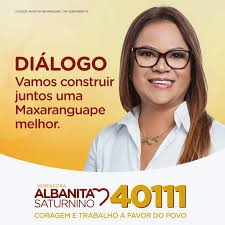 MAXARANGUAPE: ALBANITA SATURNINO É ELEITA VEREADORA
