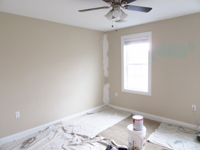 Jcb Painting a bedroom in Attleboro, MA.
