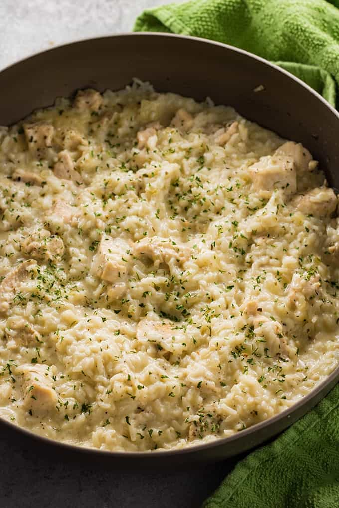 CREAMY PARMESAN ONE POT CHICKEN AND RICE #rice #dinner