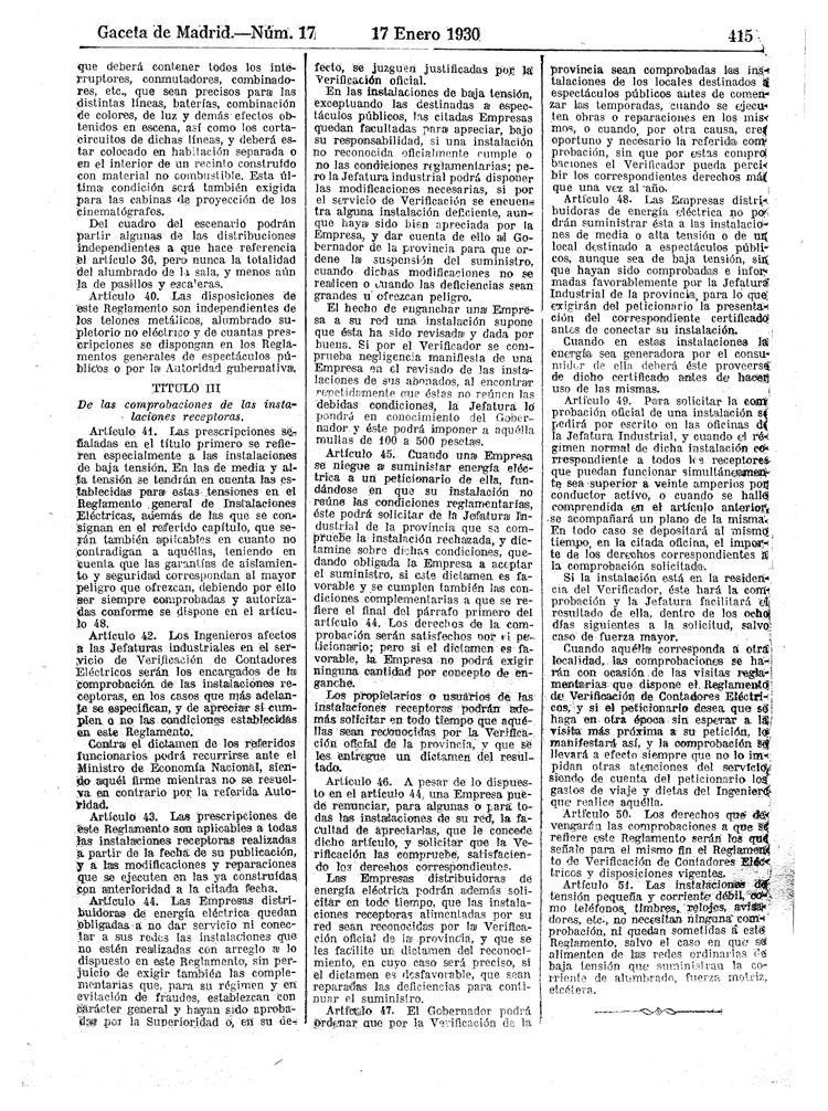 reglamento instalaciones electricas receptoras 1930 - 05