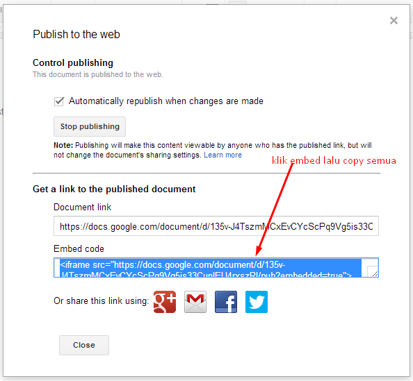 note web page publishing