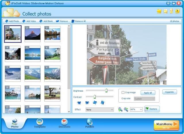 Screenshot iPixSoft Video Slideshow Maker Deluxe 4.7.0 Full Version