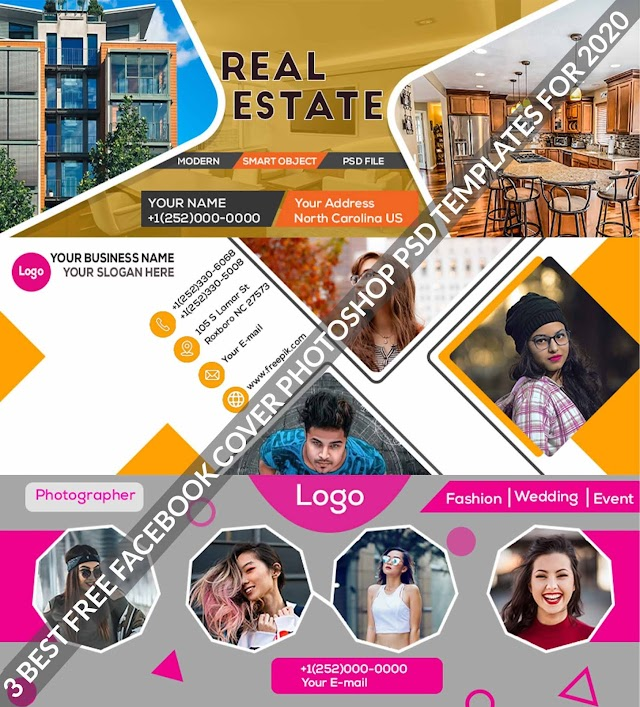 3 Best Free Facebook Cover Photoshop PSD Templates For 2020